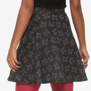 NWT kitty cat print skirt kittie